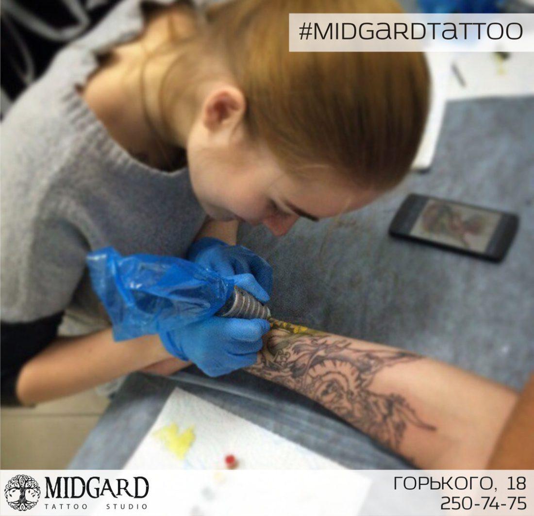 обучение татуировке . тату-мастер